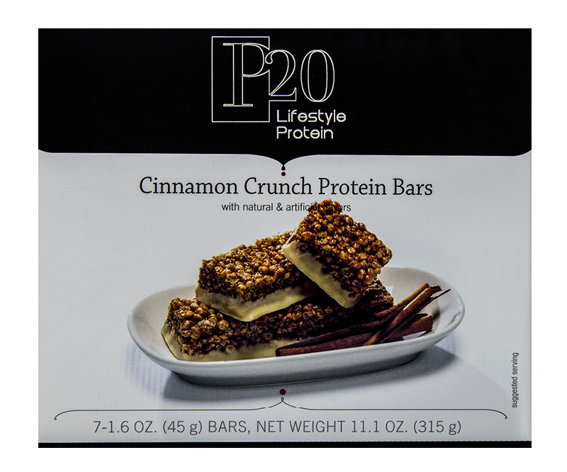 P20 Lifestyle Protein Cinnamon Crunch Bars 15g Protein in each bar