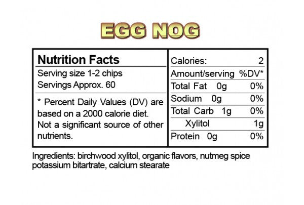 Egg Nog Ice Chips Candy – The Protein Store