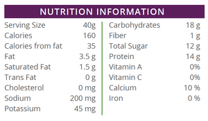Nutrition Facts P20 Lifestyle Protein Lemon Meringue Crispy Bars available at TheProteinStore.com