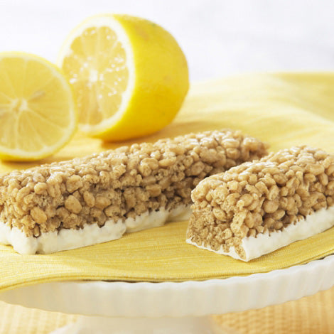 P20 Lifestyle Protein Lemon Meringue Crispy Bars available at TheProteinStore.com