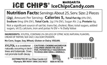 Nutrition Facts & Ingredients Margarita Ice Chips available at TheProteinStore.com