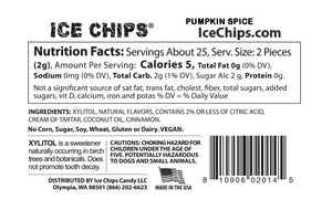 Pumpkin Spice Ice Chips Candy