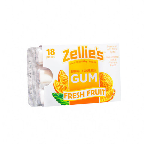 Zellie's Fresh Fruit Gum 18ct Blister Pack