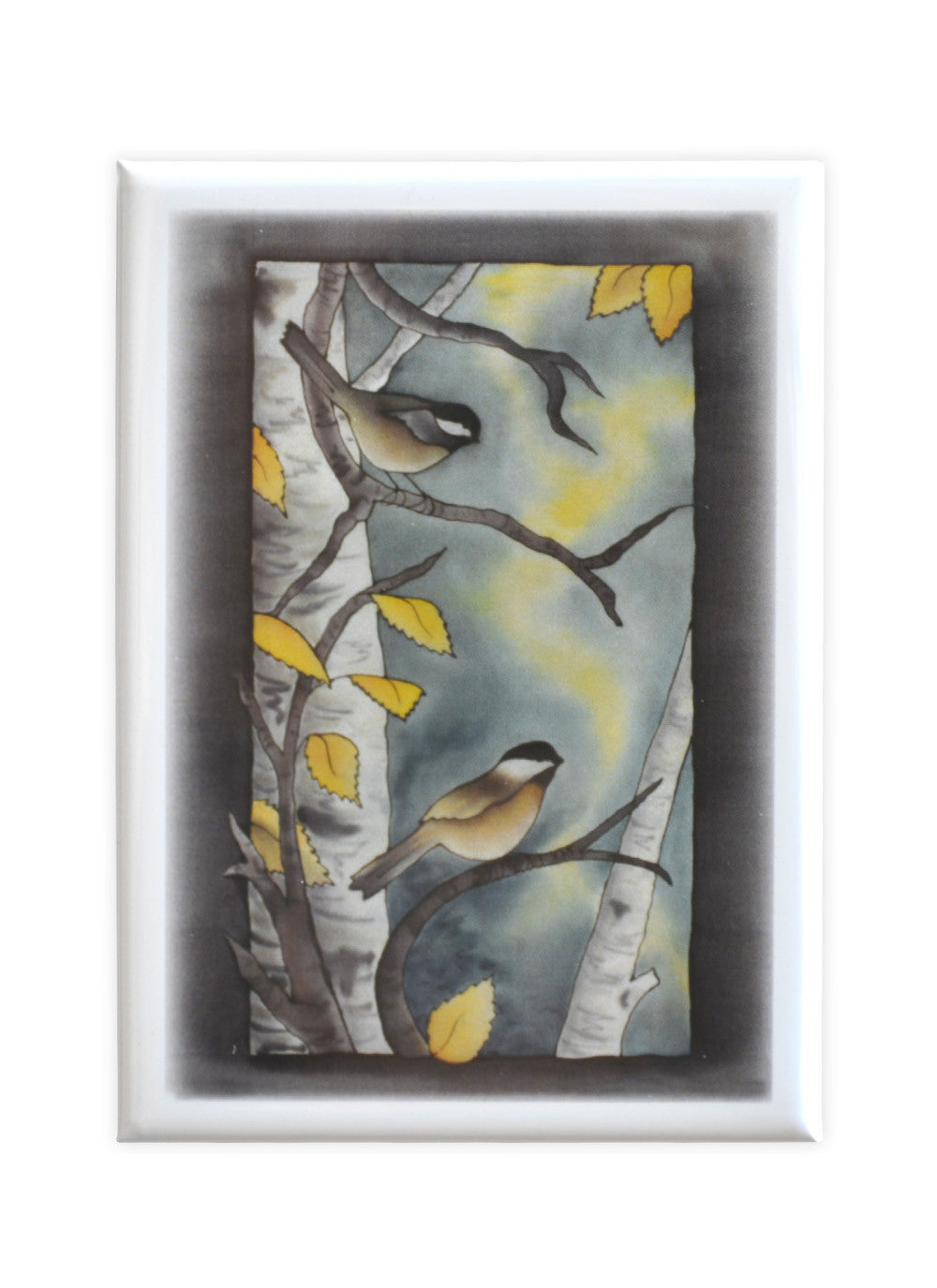 "Autumn Chickadee Magnet | 2.5""x3.5"""