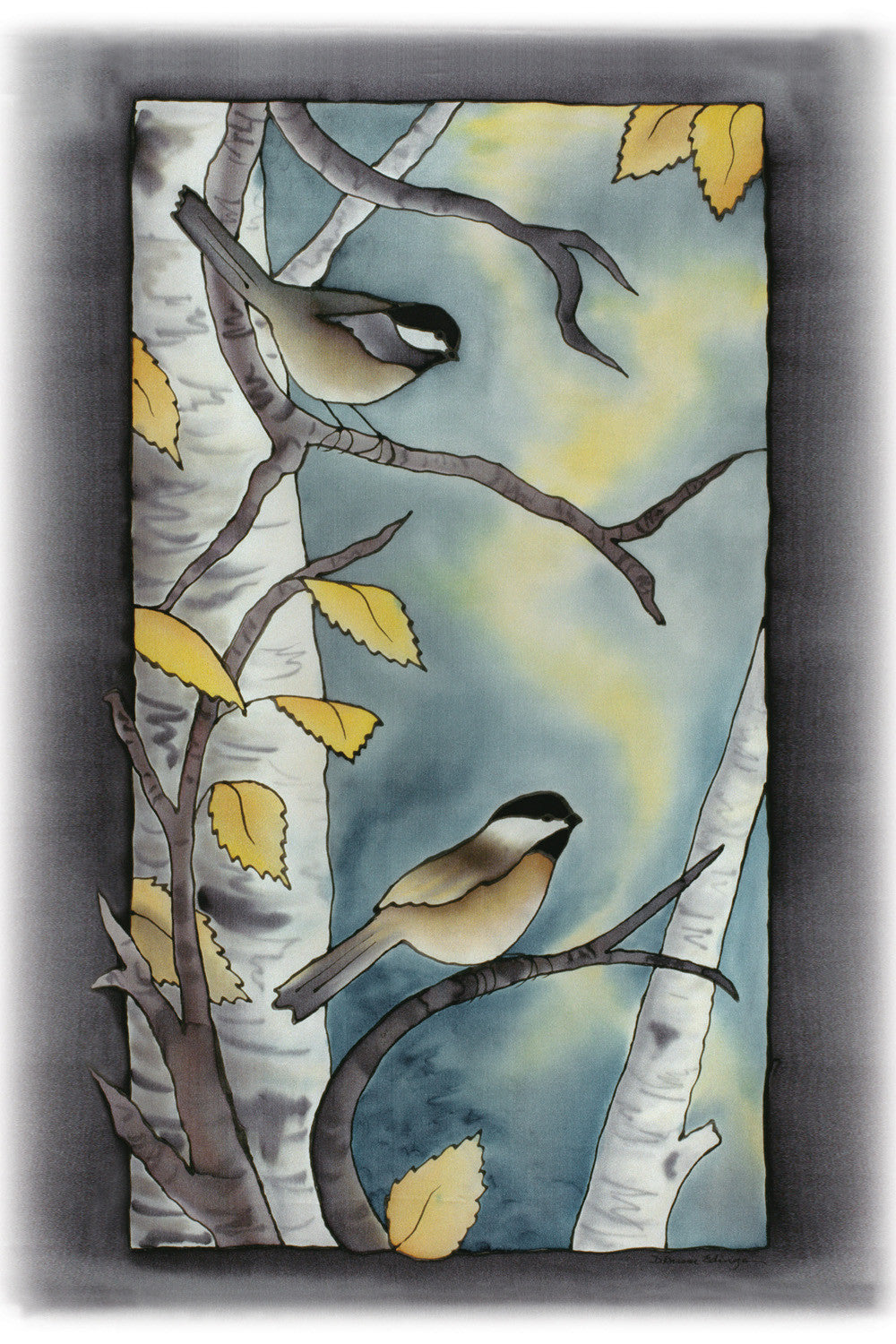 "Autumn Chickadee 1 Print | 11""x14"""
