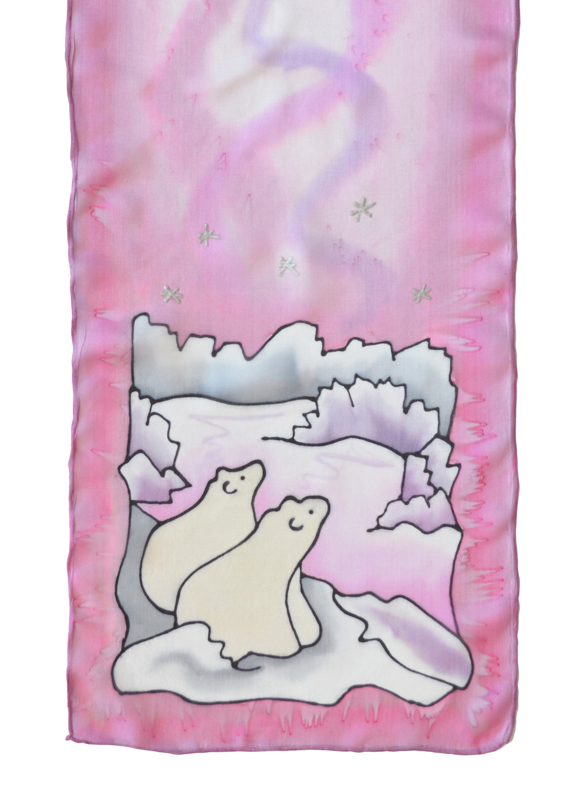 "Polar Bear Cubs Scarf | 8""x54"""