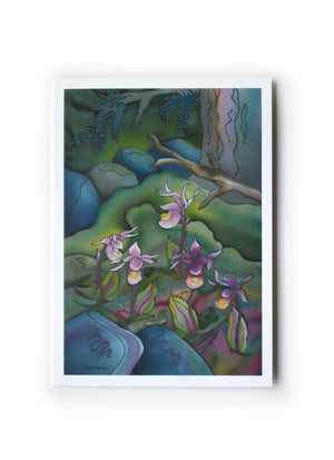 "Calypso Orchids Art Card | 7"" x 5"""
