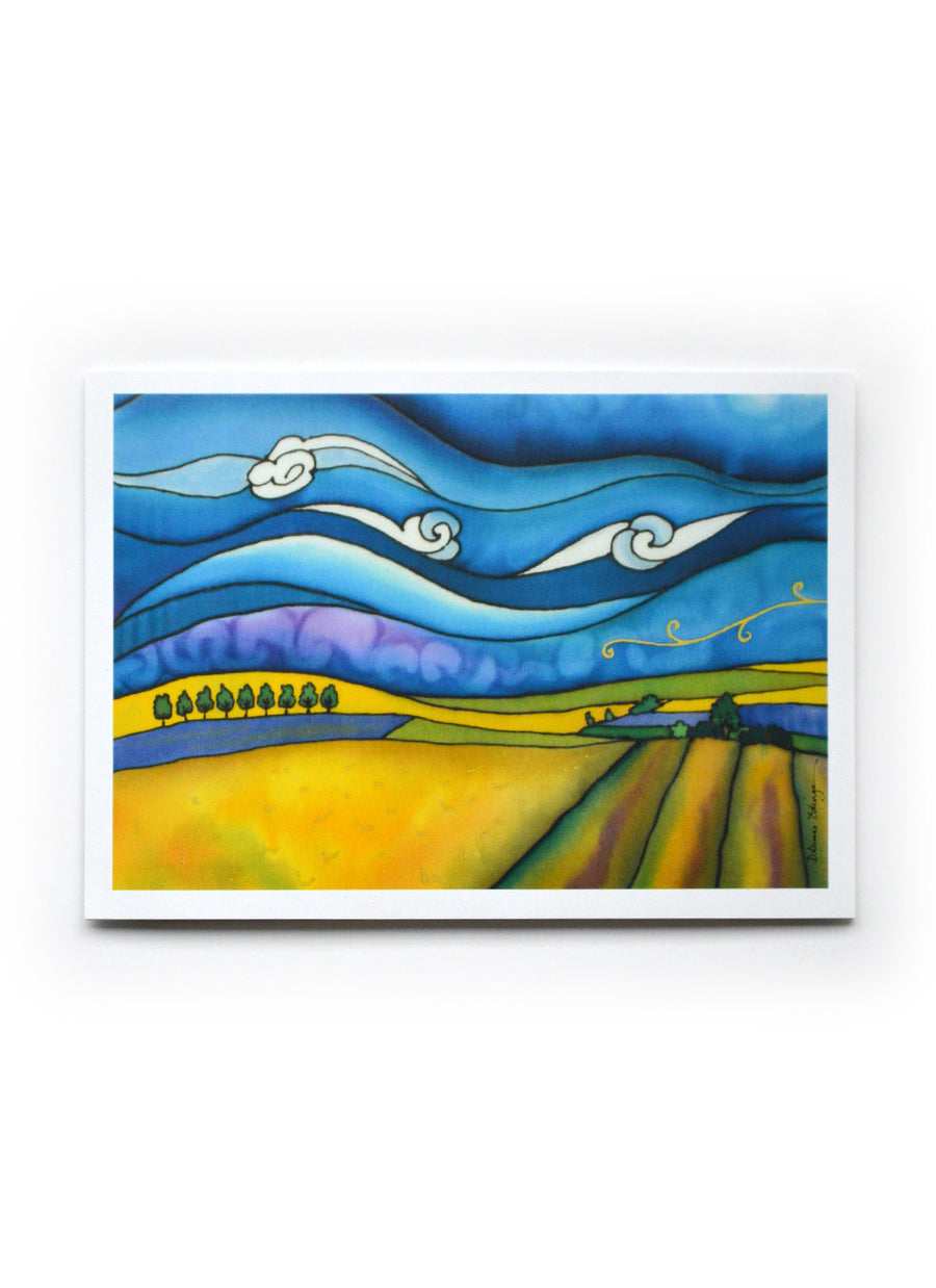 "Canola Fields Art Card | 7"" x 5"""