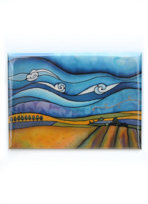 "Canola Fields Magnet | 3.5""x2.5"""