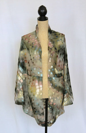 "Silk-Satin ""Cocoon"" Coverup 