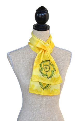 8x54 yellow colour energy scarf shown on mannequin