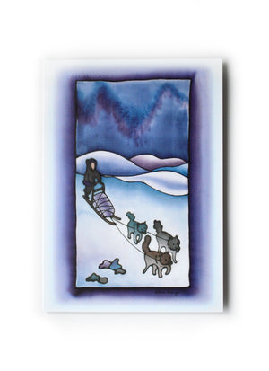 "Dog Sled Art Card | 5"" x 7"""