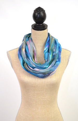 "Silk-Satin Infinity Scarf | 13""x30"" Loop"