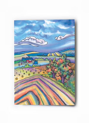"Harvest Windrows Art Card | 5"" x 7"""