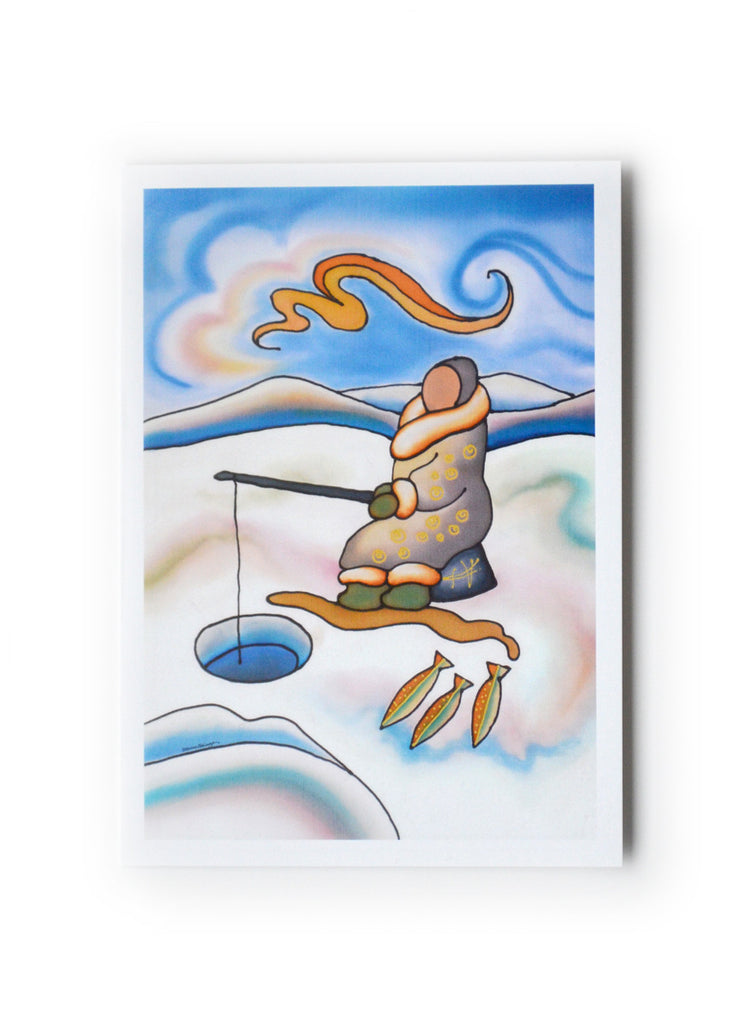 "Ice Fishing Art Card | 5"" x 7"""
