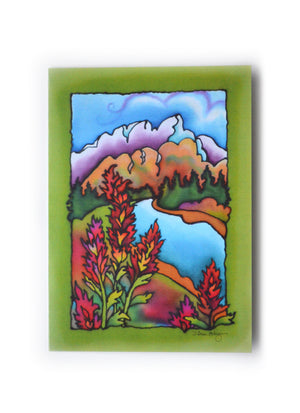 "Indian Paintbrush Art Card | 5"" x 7"""