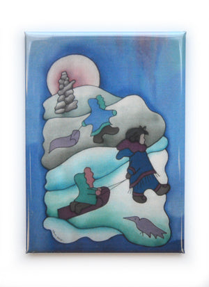 "Inuit Children Magnet | 2.5""x3.5"""