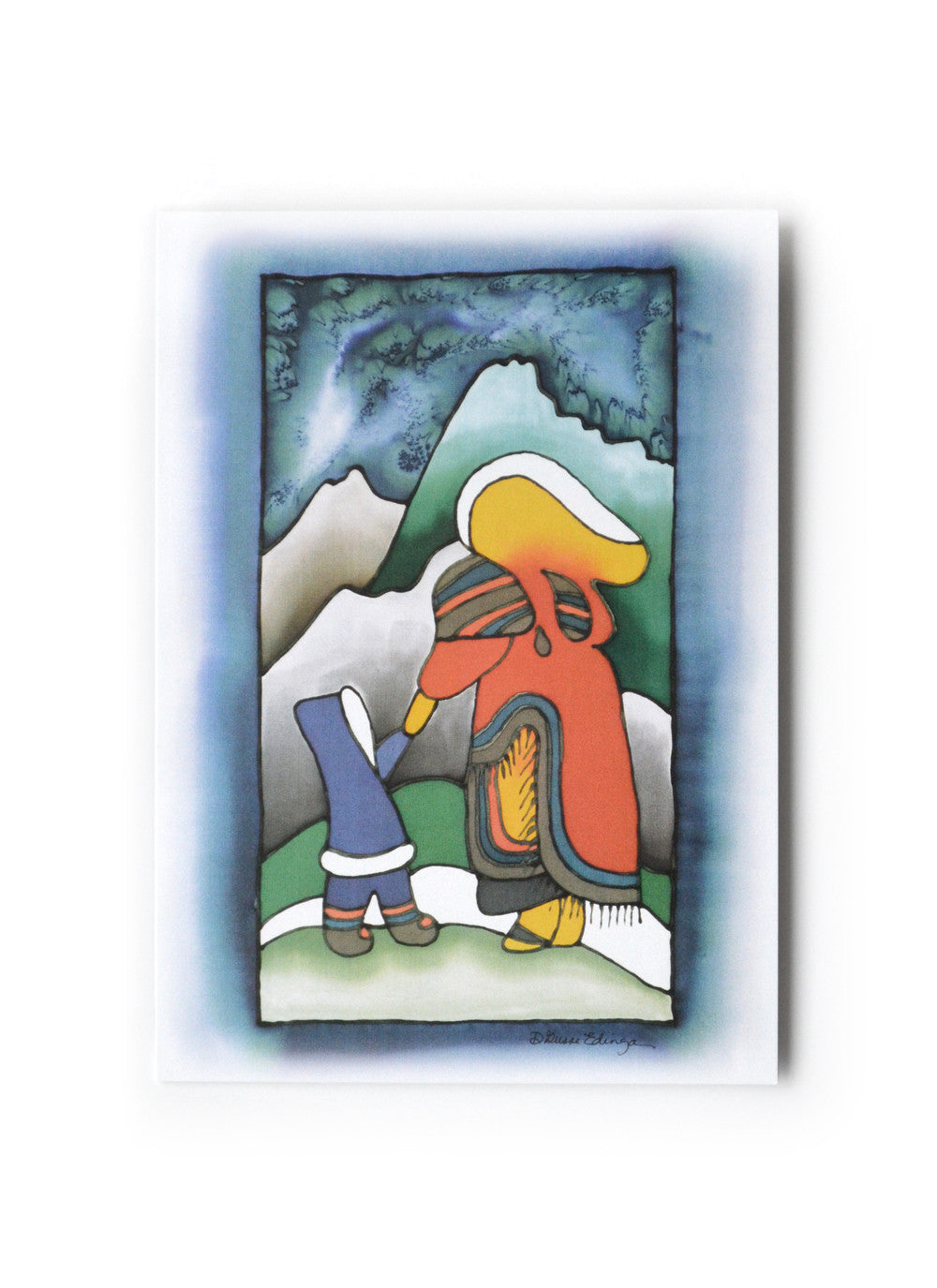 "Inuit Woman and Child Art Card | 5"" x 7"""