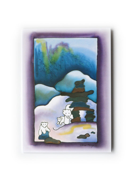 "Inuksuk and Polar Bears Art Card | 5"" x 7"""