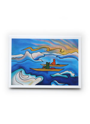"Kayakers Art Card | 7"" x 5"""