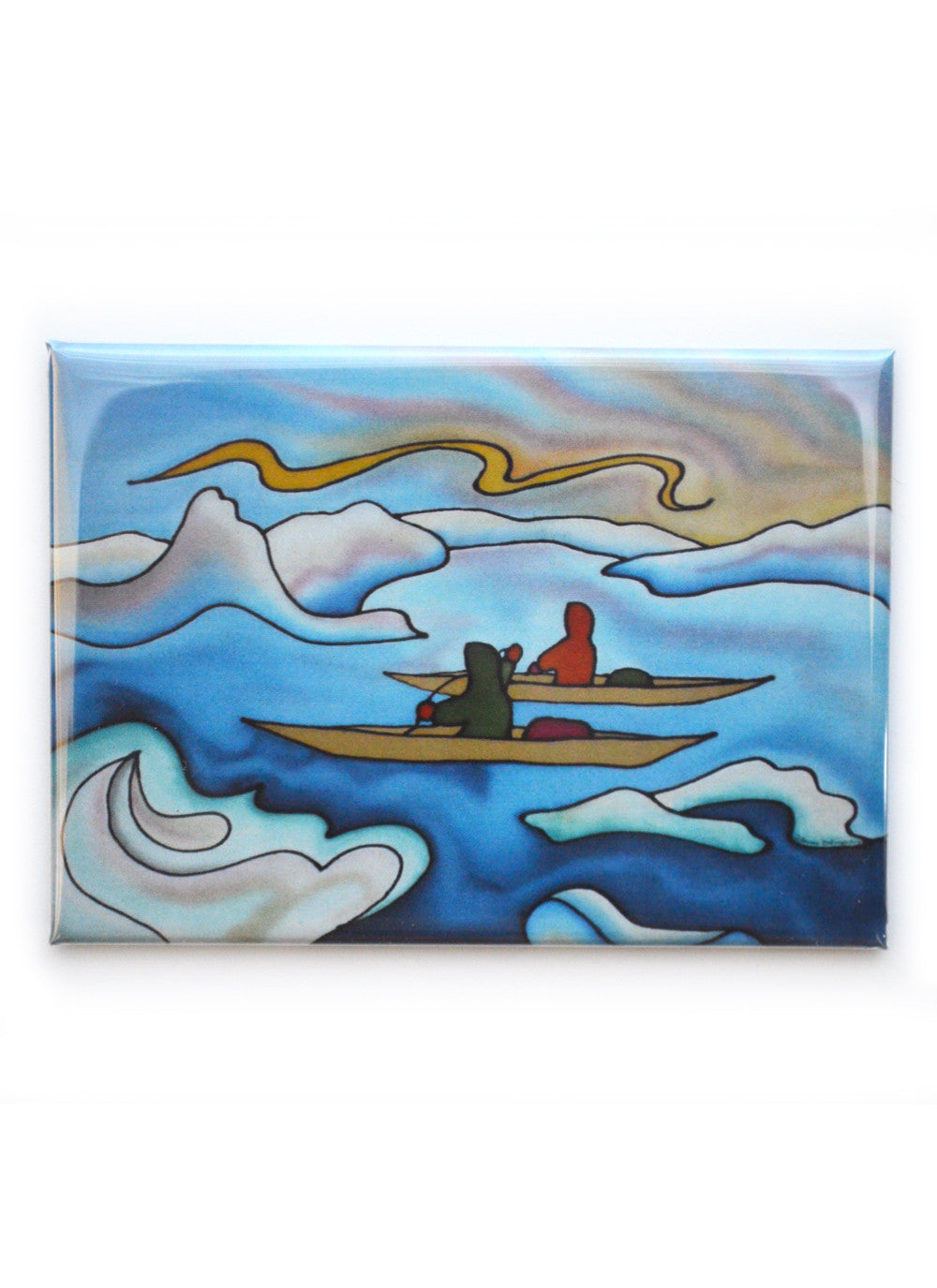 "Kayakers Magnet | 3.5""x2.5"""