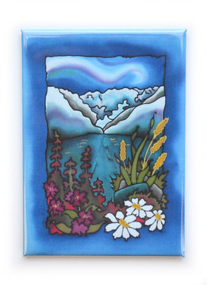 "Mountain Flowers Magnet | 2.5""x3.5"""