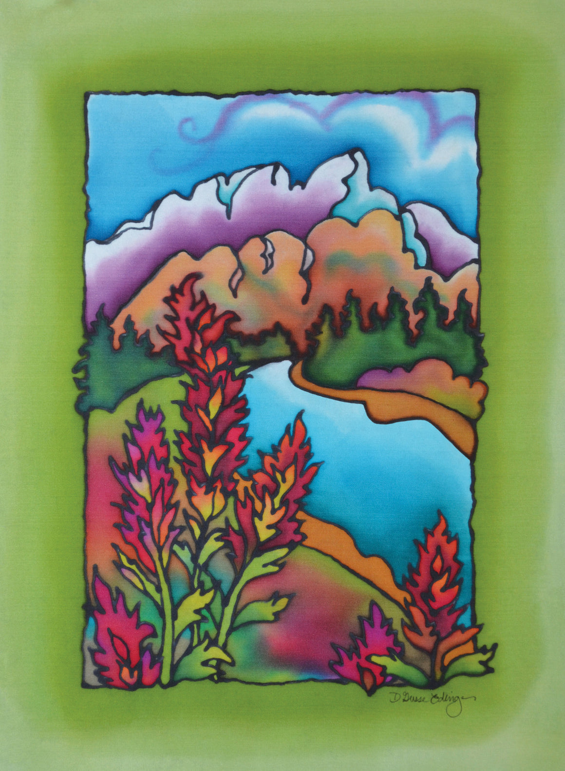 "Indian Paintbrush Print | 11""x14"""