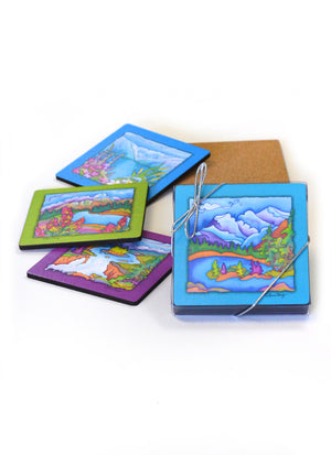 "Rocky Mountain Vistas Coasters | 3.5"" Square"