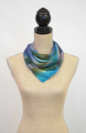"Etched Silk/Satin Bandana Scarf | 22""x22"""
