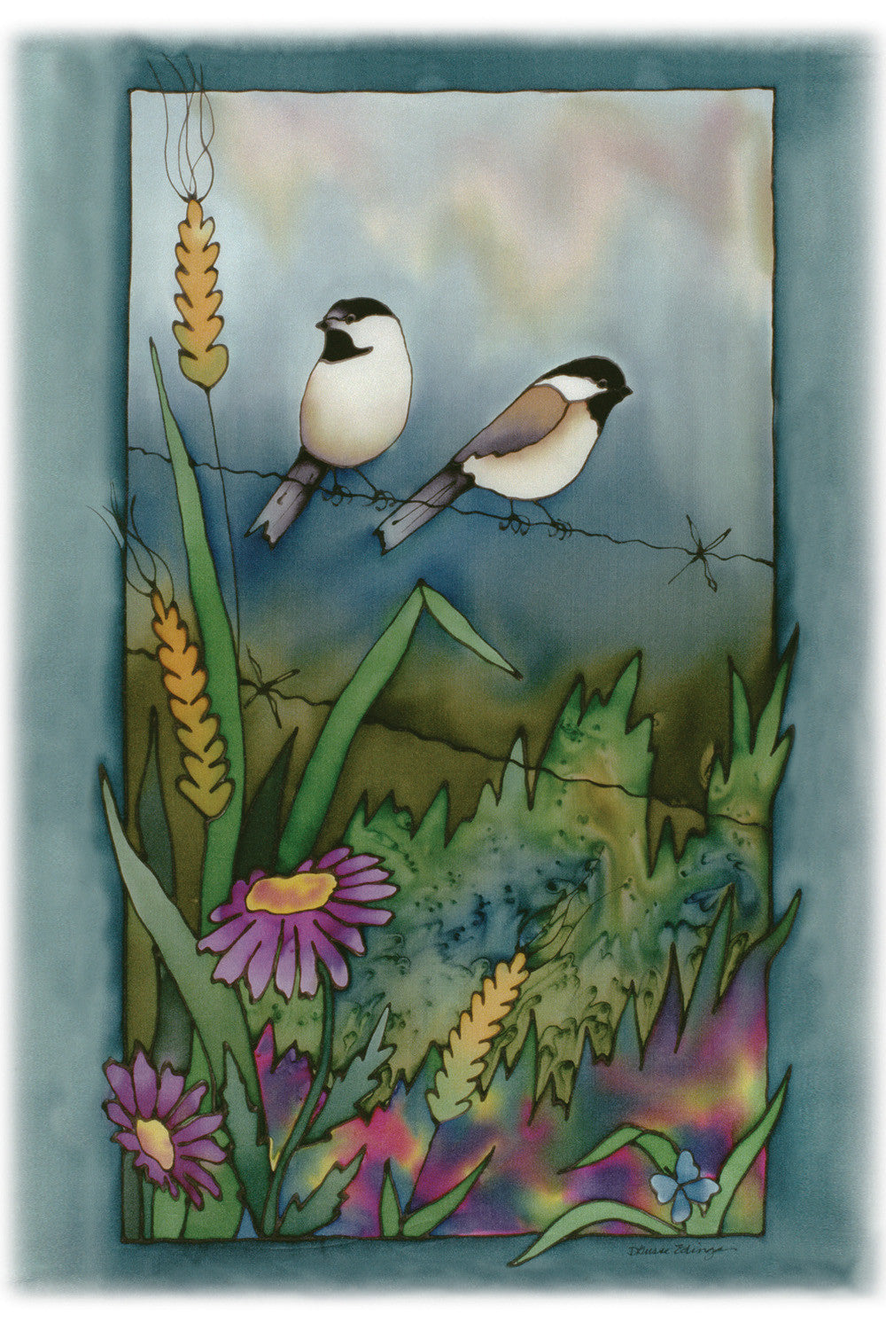 "Summer Chickadee 1 Print | 11""x14"""
