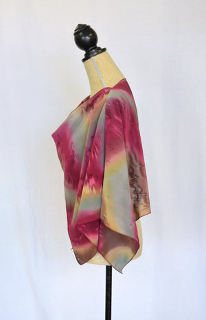 Twisted Crepe de Chine Shawl | Clearance