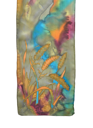 "Wheat Fronds Scarf | 8"" x 54"""