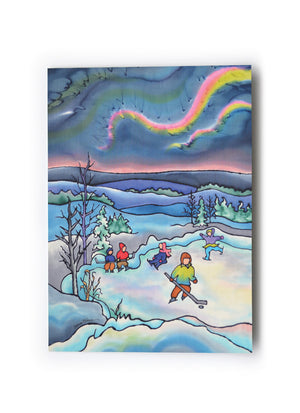 "Winter Fun - Skating Art Card | 5"" x 7"""
