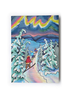 "Winter Fun - Skiing Art Card | 5"" x 7"""