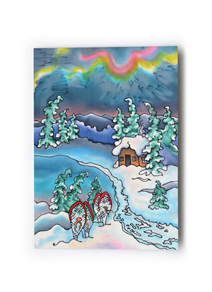 "Winter Fun - Snowshoeing Art Card | 5"" x 7"""
