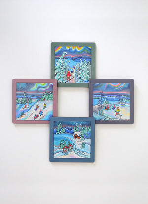 "Winter Fun Coasters | 3.5"" Square"