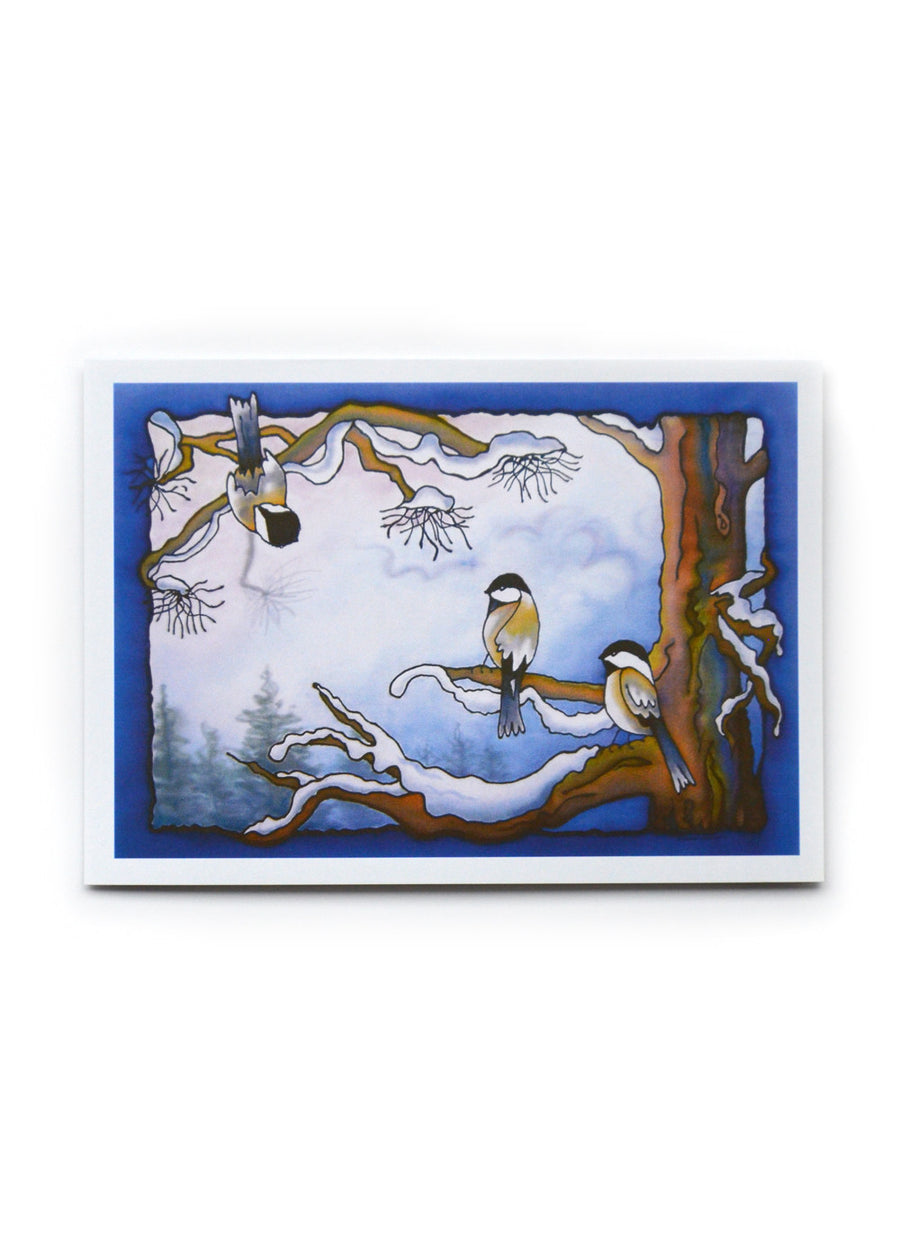 "Winter Chickadee 2 Art Card | 7"" x 5"""