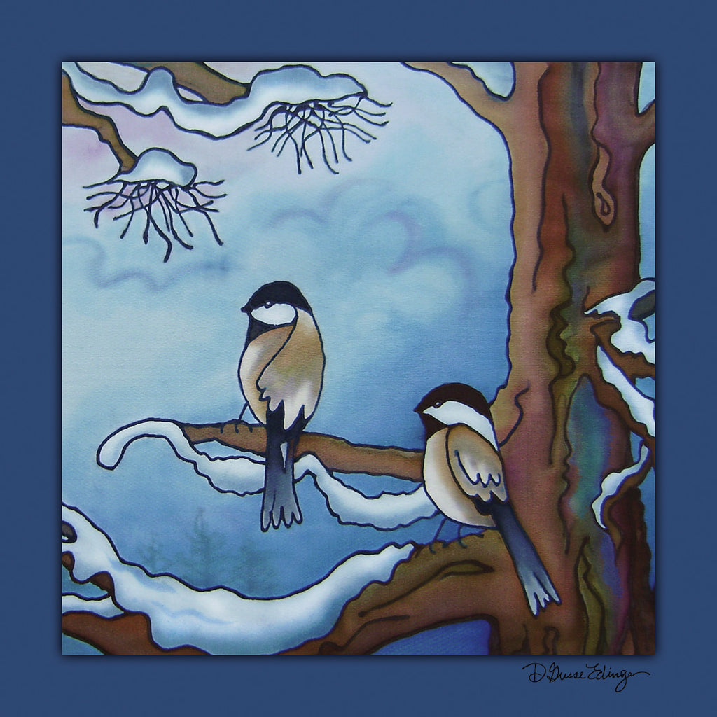 "Chickadee Coasters | 3.5"" Square"