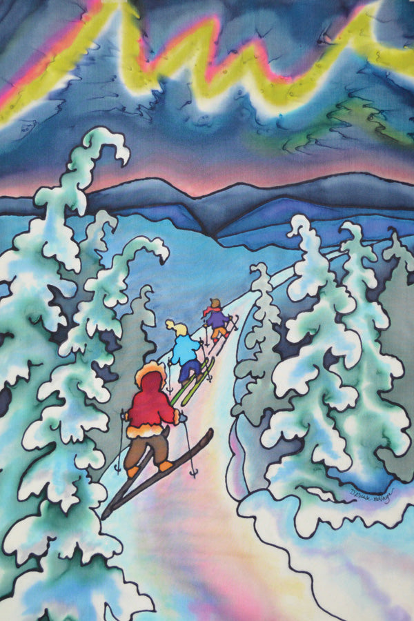 "Winter Fun - Skiing Print | 11""x14"""