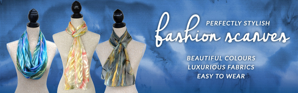 Hand-painted silk fashion scarves