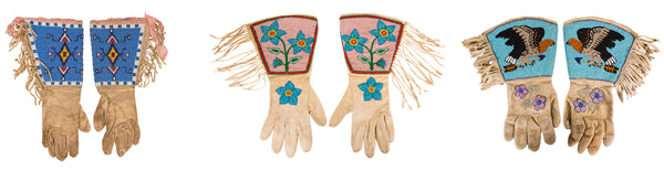 Antique Beaded GAuntlets