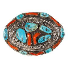 Large Navajo Belt Buckle