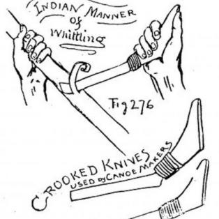 Crooked knives used by canoe makers