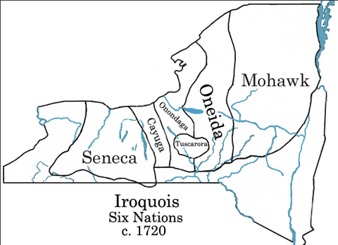 Iroquois Six Nations Map