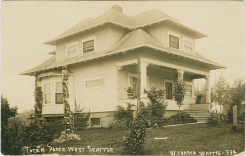 """J.E. Standley's West Seattle Home """"Totem Place"""""""