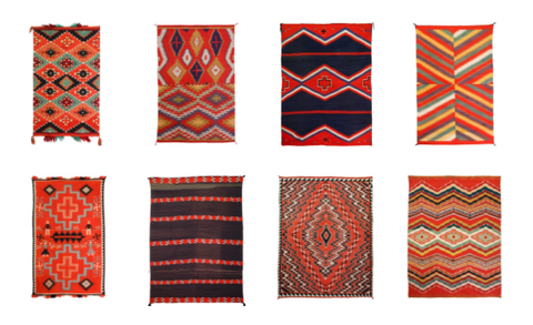 Collection of Navajo Germantown Weavings