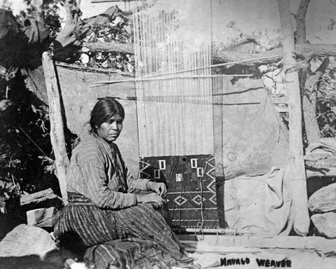 Navajo Weaving on Loom