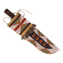 Sioux beaded knife sheath