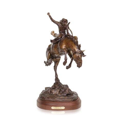 To Ride A Bronc Bronze by Robert Scriver