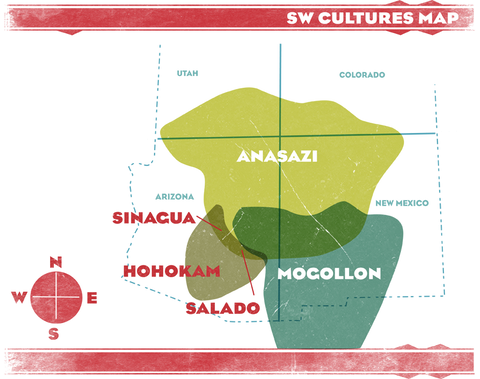 South West Cultures Map